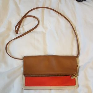 Gap Faux Leather Colorblock Crossbody Purse
